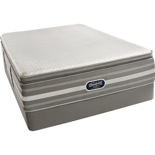 Simmons Recharge Hybrid Level 5 Ryleigh Twin Ultimate Luxury Pillow Top Hybrid Mattress and Triton Foundation