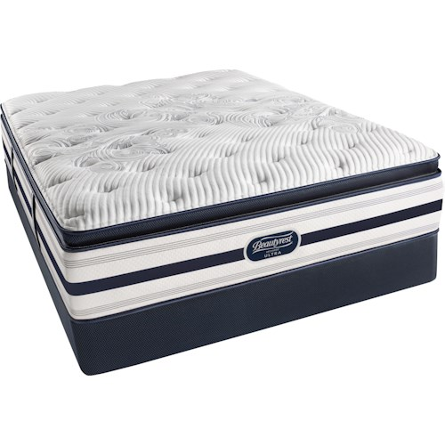 Simmons Recharge Level 6 Meg Twin Luxury Firm Pillow Top Mattress and Triton Foundation