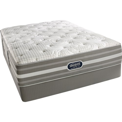 Simmons World Class Level 4 Jessica King Luxury Firm Mattress and Triton Foundation