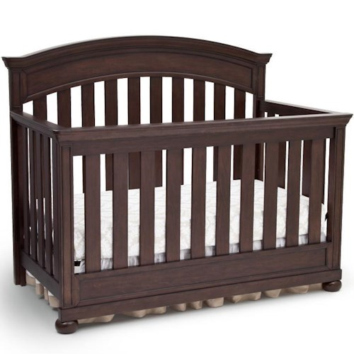 Simmons Kids Castille 4- In -1 Crib With Rounded Accents