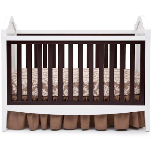 Simmons Kids Hollywood 3- In- 1 Crib with Raised Moldings