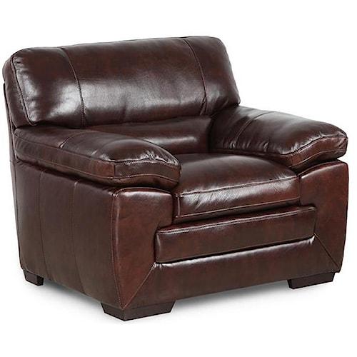 Simon Li Biscayne Longhorn Black Oak Leather Chair