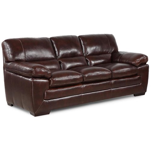 Simon Li Biscayne Longhorn Black Oak Leather Sofa