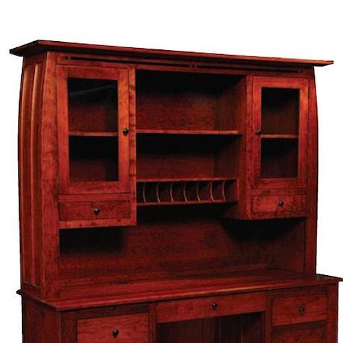 Simply Amish Aspen Hutch Top for Desk or Credenza