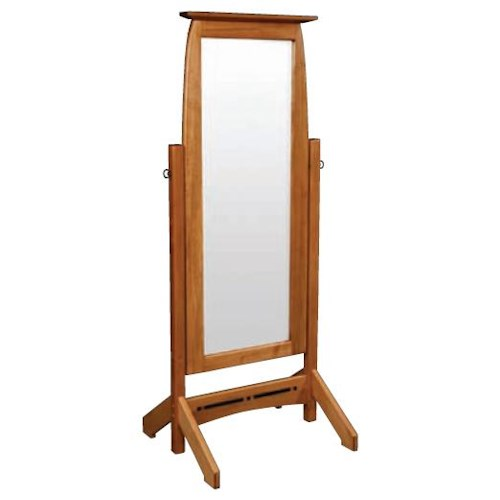 Simply Amish Aspen Cheval Mirror, Beveled