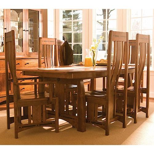 Simply Amish Aspen 7 Piece Aspen Table & Chair Set