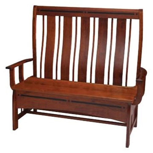 Simply Amish Aspen Slat Back Storage Bench