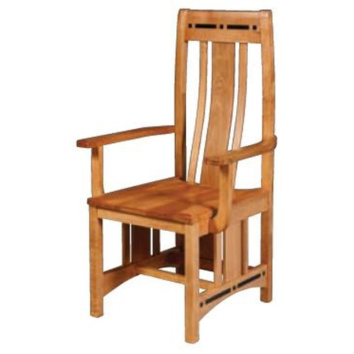 Simply Amish Aspen Wood Seat Chair with Lower Back