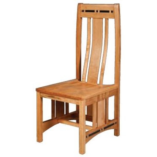Simply Amish Aspen Wood Seat Side Chair with Lower Back