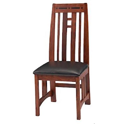 Simply Amish Aspen Prairie Aspen Side Chair with Cushion Seat