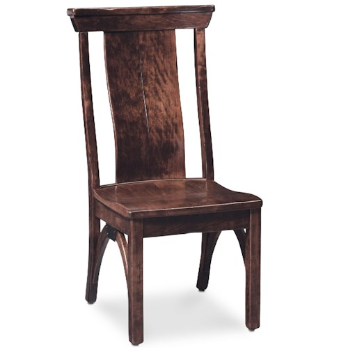 Simply Amish B and O Railroad Trestle Bridge Side Chair with Splat Back