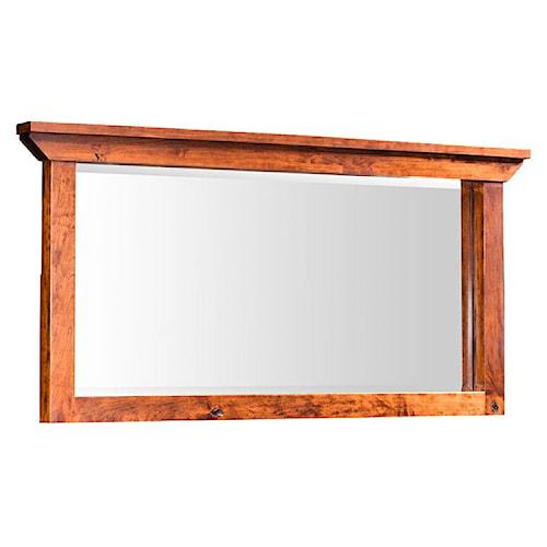 Simply Amish B and O Railroad Medium Bureau Mirror with Landscape Pane