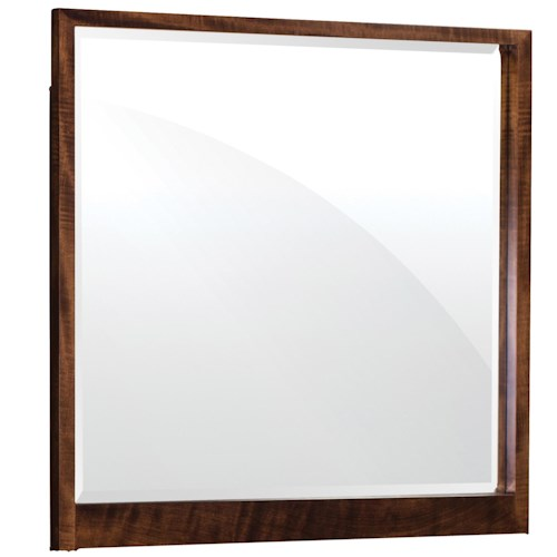 Simply Amish Beaumont SA Dresser Mirror with Wood Frame