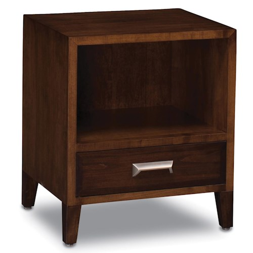 Simply Amish Beaumont SA Nightstand with Opening and Drawer