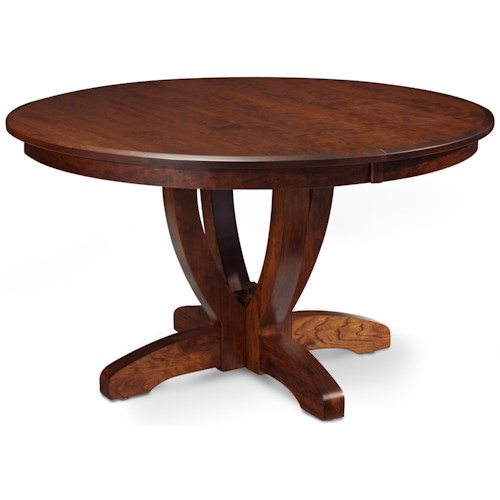 Simply Amish Brookfield Single Pedestal Round Table