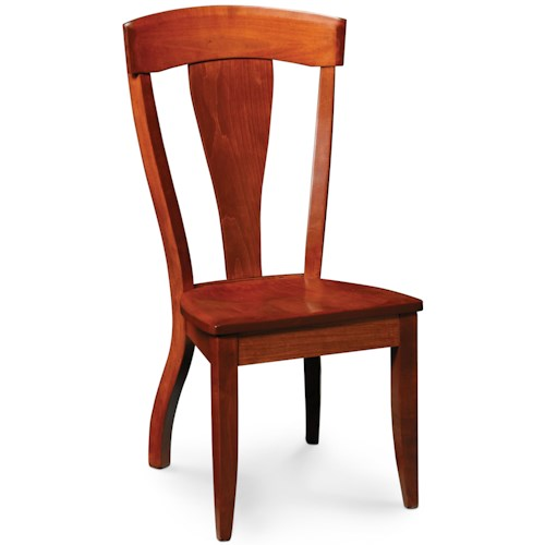 Simply Amish Brookfield Dining Side Chair w/ Wood Seat