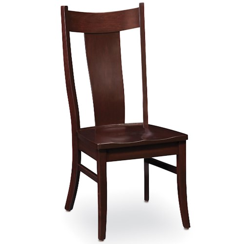 Simply Amish Chairs Arnold Side Chair with Splat Back