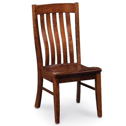 Simply Amish Chairs Bradford Side Chair with Slat Back