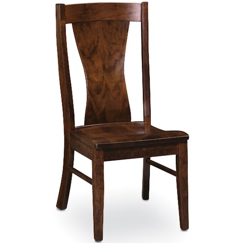 Simply Amish Chairs Joseph Side Chair with Splat Back