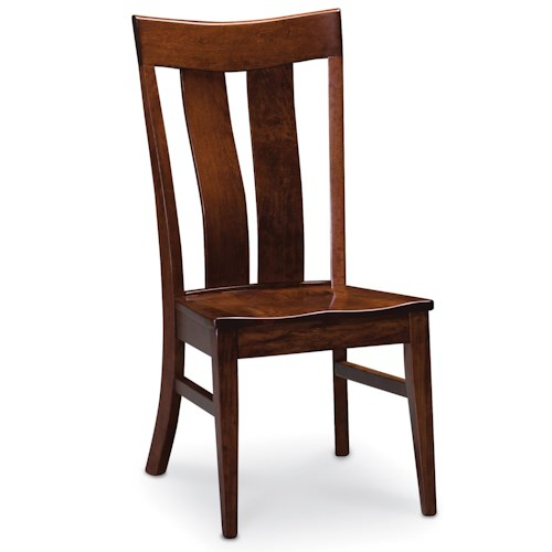 Simply Amish Chairs Lincoln Side Chair with Thick Slats