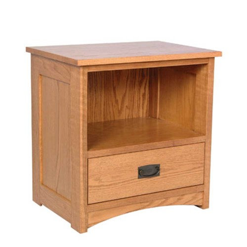 Simply Amish Prairie Mission Prairie Mission Nightstand with Opening