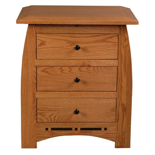 Simply Amish Aspen Bedside Chest with Pullout Surface