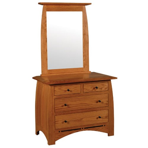 Simply Amish Aspen Short Chest and Beveled Mirror
