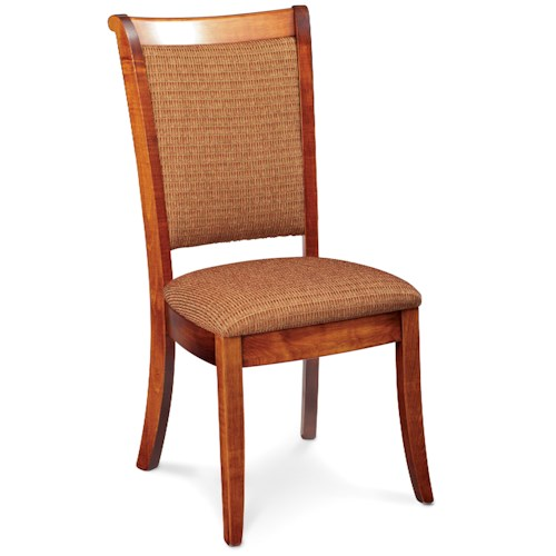 Simply Amish Empire Side Chair with Upholstered Seat and Back