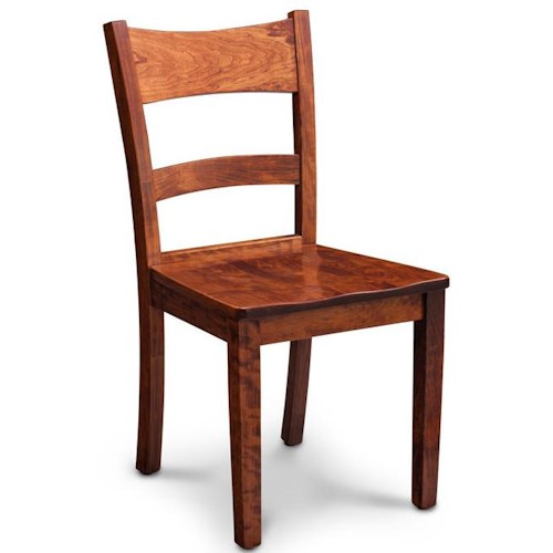 Simply Amish Express Shenandoah Side Chair w/ Wood Seat