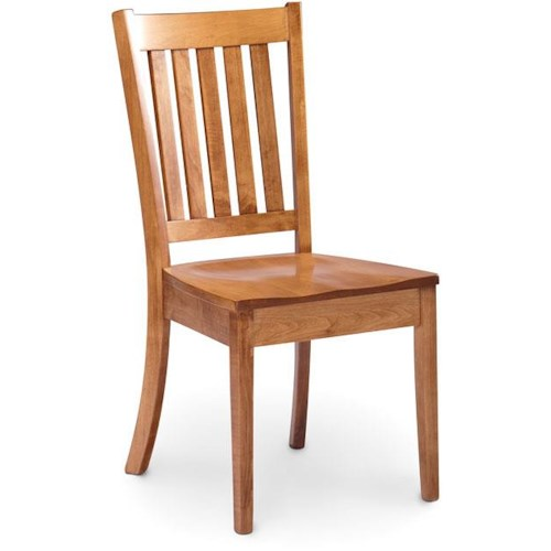 Simply Amish Express Wright Dining Side Chair with Slat Back