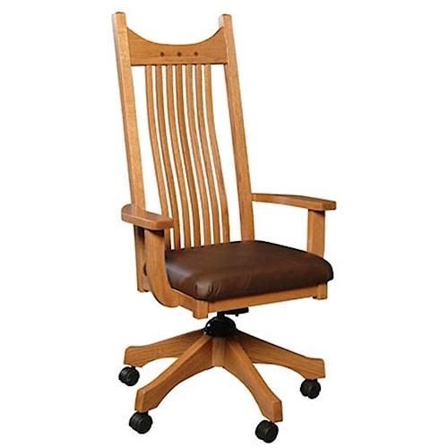 Simply Amish Royal Mission Royal Mission Desk Chair w/Cushin