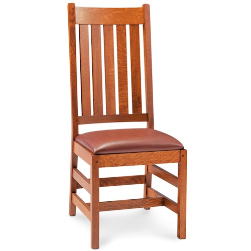 Simply Amish Grant Slat Back Side Chair