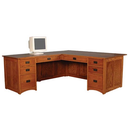 Simply Amish Prairie Mission Prairie Mission Executive L-Shape Desk