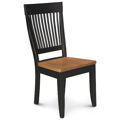 Simply Amish Homestead Amish Dining Side Chair w/ Sculpted Seat