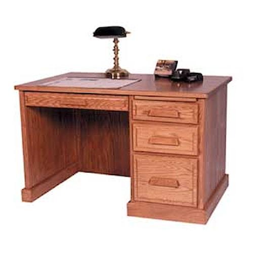 Simply Amish Classic Classic Flat Top Desk 2