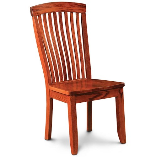Simply Amish Justine Side Chair w/ Sculpted Seat