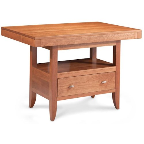 Simply Amish Justine Island Table w/ Butterfly Extension