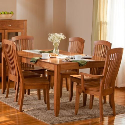 Simply Amish Justine 7 Piece Dining and Chair Set