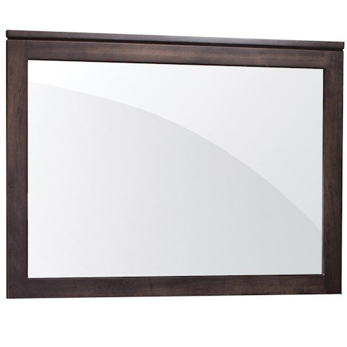 Simply Amish Justine Mule Chest Mirror with Wood Frame