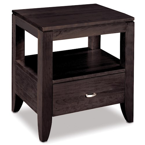 Simply Amish Justine Nightstand with Open Compartment