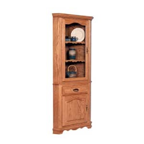 Simply Amish Classic Classic 1 Door Closed Corner China Hutch