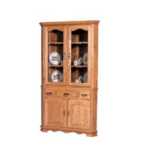 Simply Amish Classic Classic 2 Door Closed Corner China Hutch