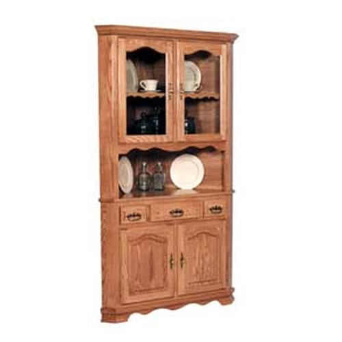 Simply Amish Classic Classic 2 Door Open China Cabinet