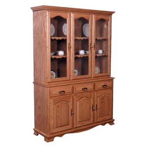 Simply Amish Classic Classic 3 Door Closed China Hutch