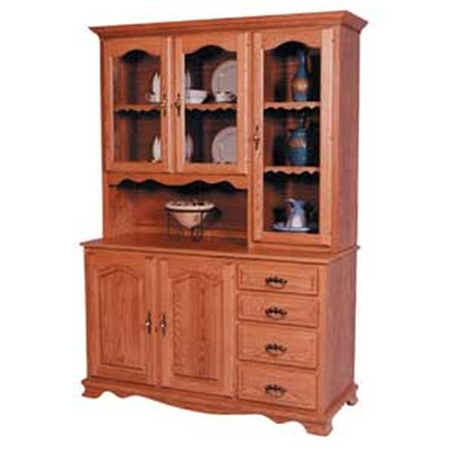 Simply Amish Classic Classic 3 Door Hoosier China Hutch Right