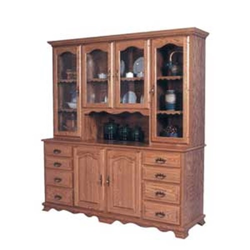 Simply Amish Classic Classic 8 Drawer Hoosier China Hutch
