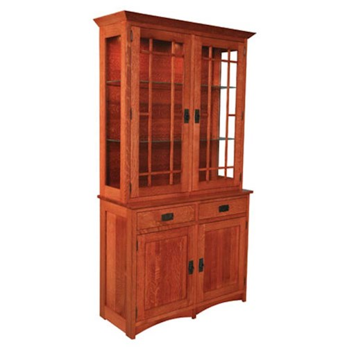 Simply Amish Prairie Mission Prairie Mission 2-Door China Hutch