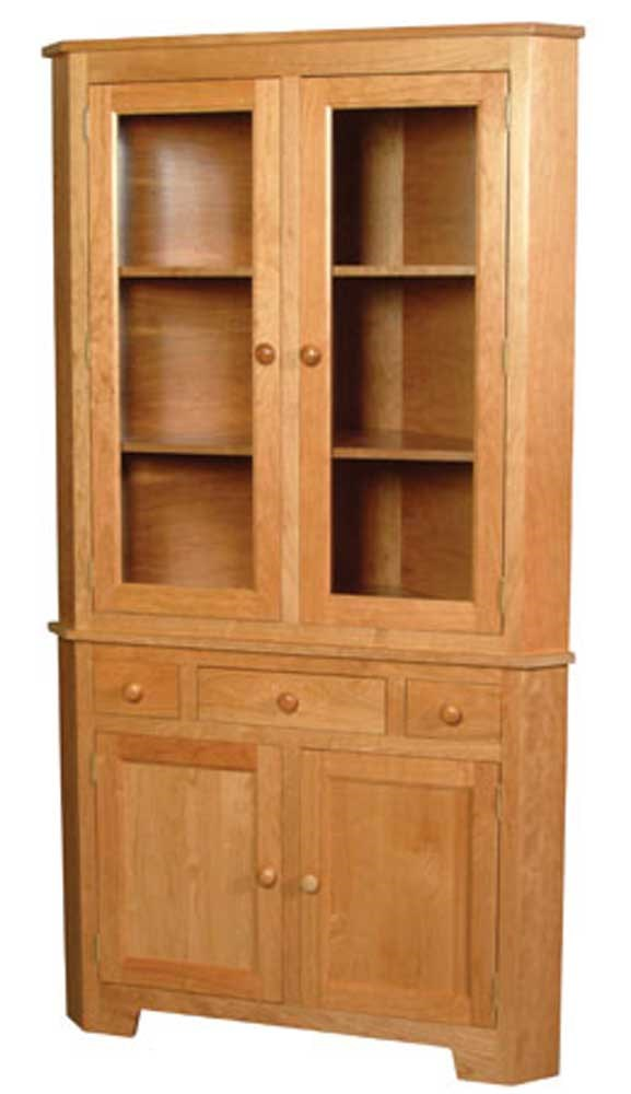 Corner Cabinet Dining Room Hutch: Simply Amish Shaker Amish Shaker 2-Door Closed Corner China Hutch