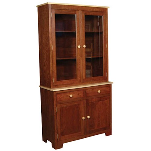 Simply Amish Shaker Amish Shaker 2-Door Closed China Hutch