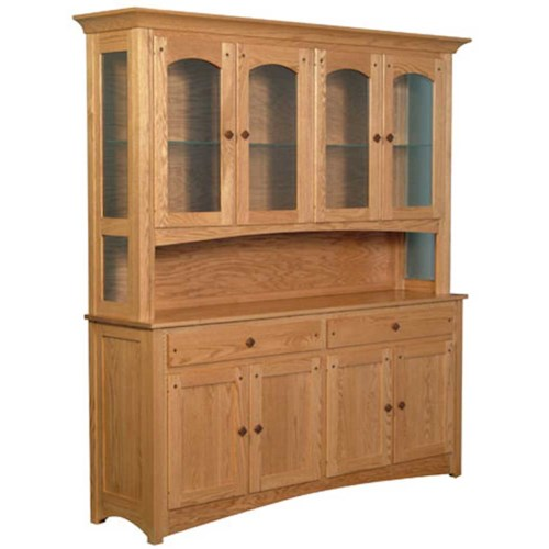 Simply Amish Royal Mission Royal Mission Open Hutch with 4 Arch Doors